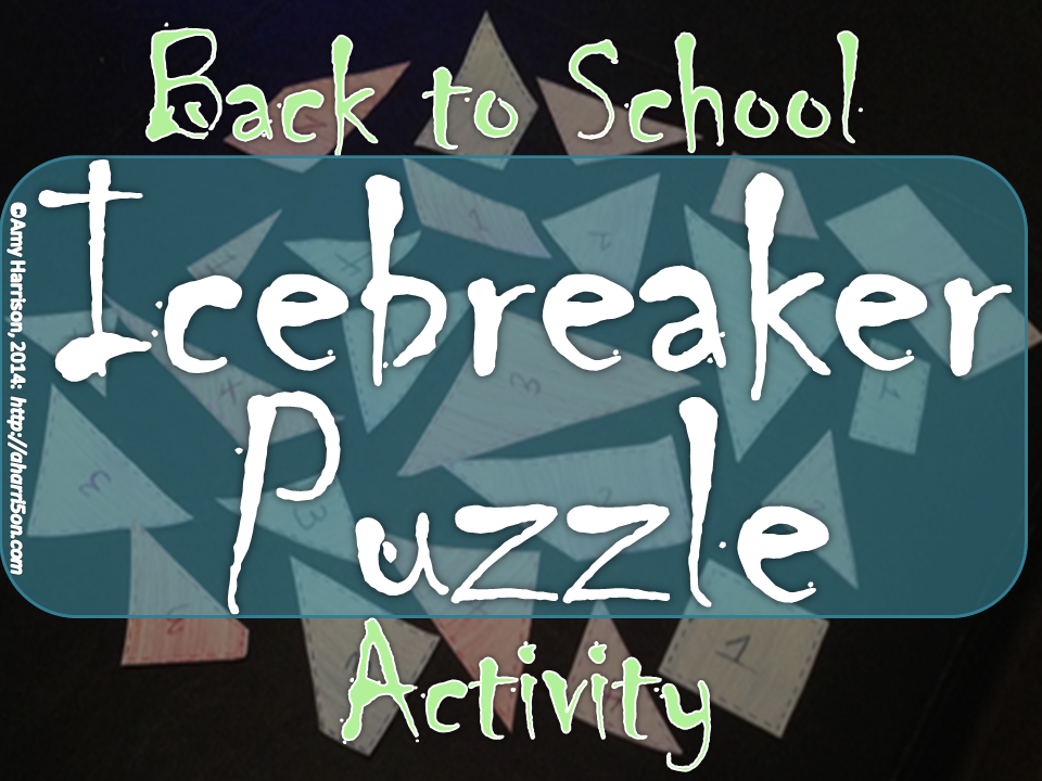 My Math Resources - Back to School Ice Breaker Puzzle Activity